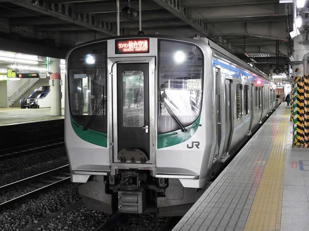 Photos: E721系500番台P-504編成1328M仙台空港行き仙台4番にて