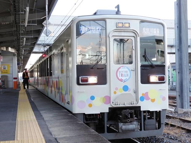 東武634型特急スカイツリートレイン1号 新鹿沼発車