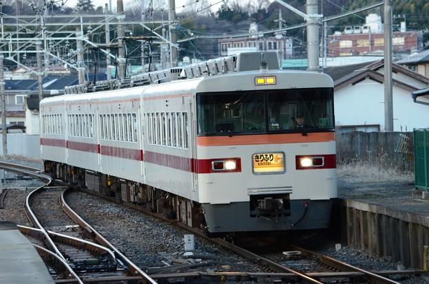 東武300系臨時特急きりふり294号新鹿沼停車