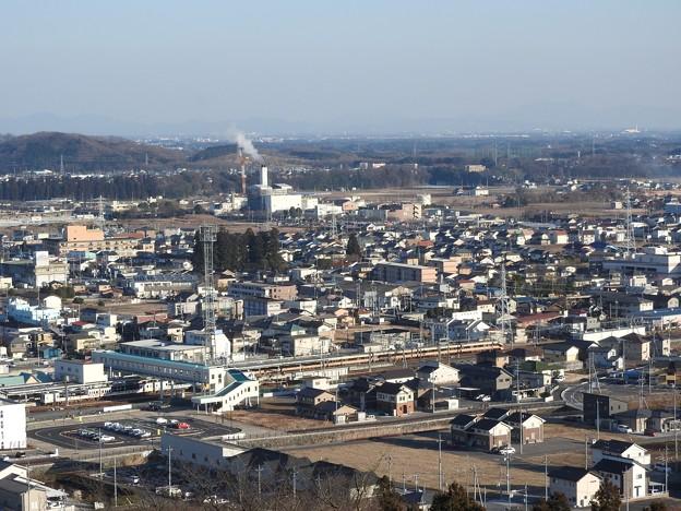 富士山公園から新鹿沼駅俯瞰