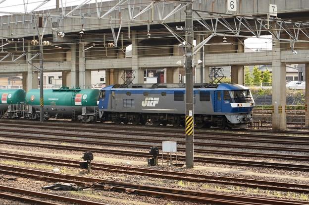 岡山の桃太郎15号機牽引石油専用4091レ宇都宮貨物(タ)11番到着