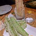 うりずん豆とカニの天ぷら