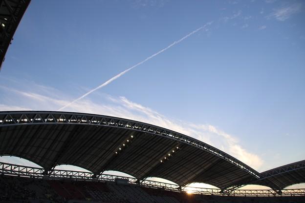 スタジアム上空に