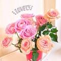 写真: 今年も薔薇をーあつーめて♪ラメ乗せはチャラ痛々しくて苦手だけどレインボーの頑張ったらミラクルキタ!感は好き。自分で買う時はヌードちゃんを選びマス(^_^*