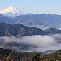 091206-10高尾山~陣馬山縦走・山頂からの富士山