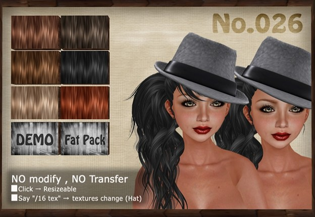 [ Love Soul ] Hair+Hat*026*
