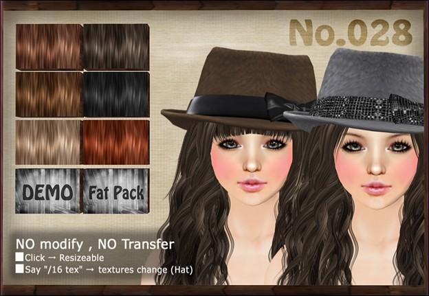 [ Love Soul ] Hair+Hat*028*
