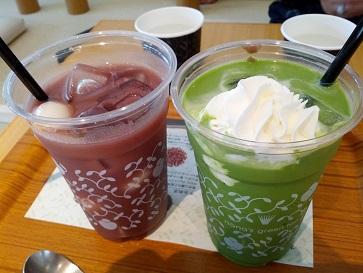 nana's green tea 「抹茶白玉あずきラテ&アイス白玉しるこ」
