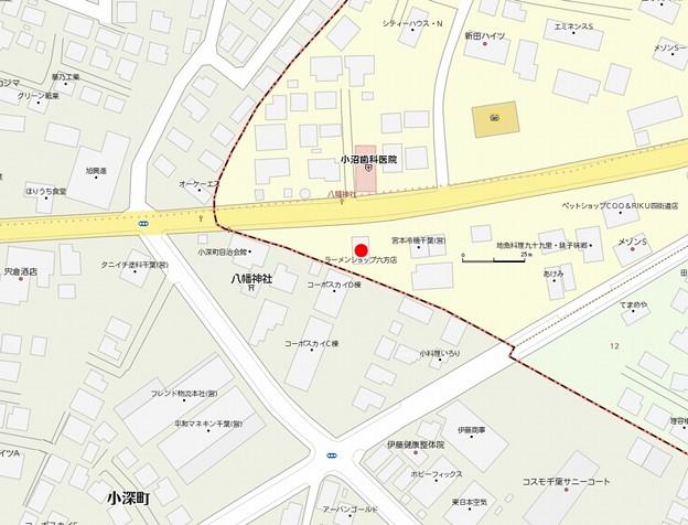 ラーメンショップ六方店MAP2