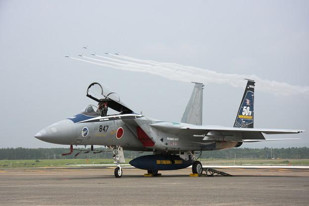 T-4 BI Leaders BenefitとF-15J 203sq 50th anniversary