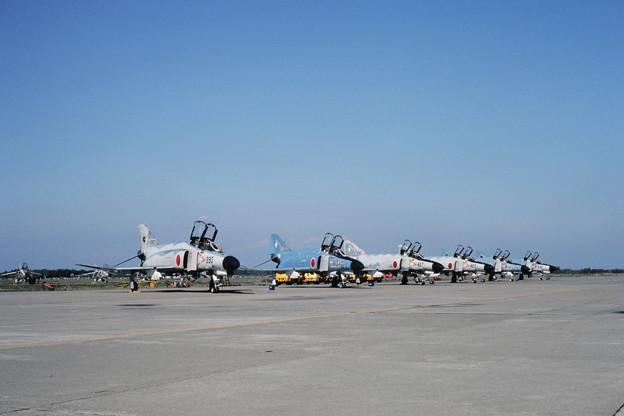 Photos: F-4EJ Hyakuri AB 301sq+305sq ACM塗装機 1981.10