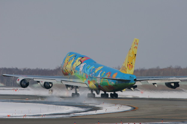 B747-481D JA8956  ANA takeoff