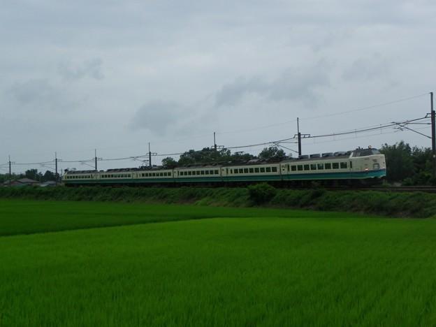 485系新潟車T15編成 新発田駅前商店街ミステリー列車送り込み回送