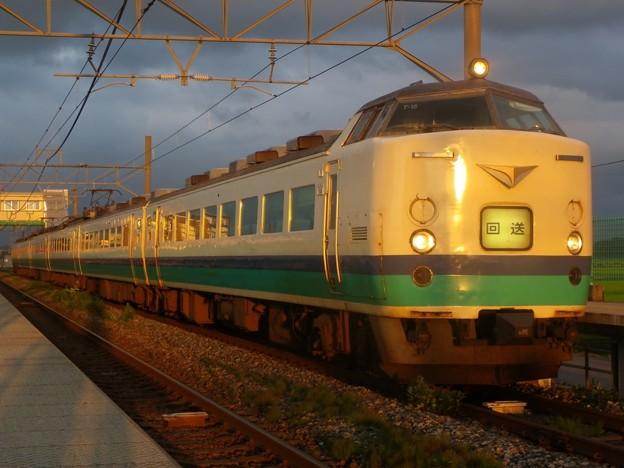 485系新潟車T15編成 新発田駅前商店街ミステリー列車 返却回送