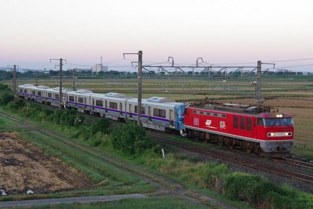 """EF510 16牽引 733系1000番台 B-1001編成・B-1002編成(""""はこだてライナー""""用) 甲種輸送"""
