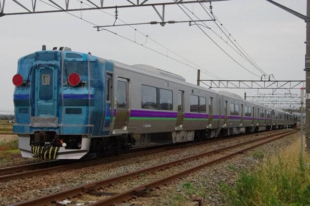"""EF510 511牽引 733系1000番台B-1003編成+B-1004編成(""""はこだてライナー""""用) 甲種輸送"""