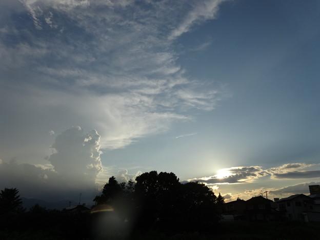 甘上がりの西の空