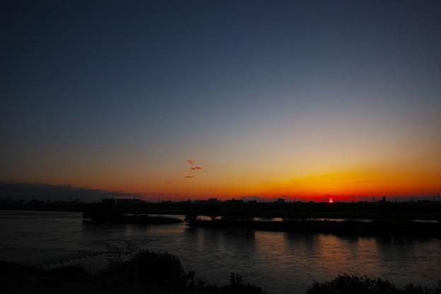 【DP0】川辺の夕景2