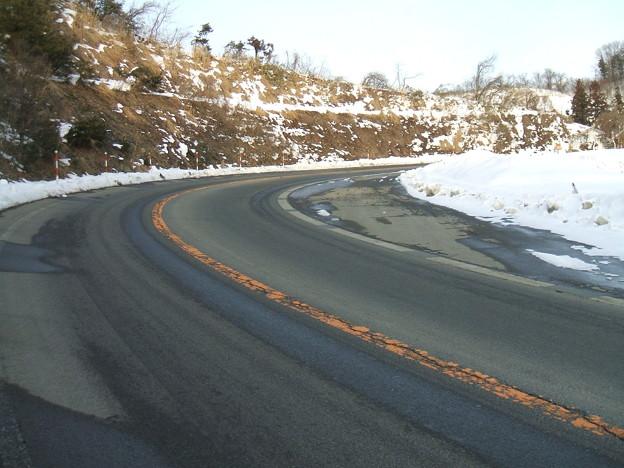 福島県道64号の冬 - 明ル坂 - 5thヘアピンカーブ - 2