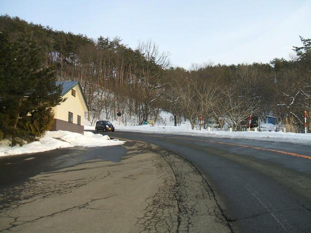 福島県道64号の冬 - 明ル坂 - 6thヘアピンカーブ - 1