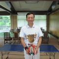 写真: 足利カントリークラブ理事長杯決勝で見事優勝のアシカンファミリーの達也さん2014.7.20