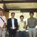 足利カントリークラブAクラス関谷記念杯競技に参加して優勝のマサルくんと4位の浩さんを囲んで2014.8.3
