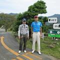 写真: 足利カントリークラブ多幸コース9番ホールアウト後のアシカンファミリーの幹事とヨッジー2014.9.20