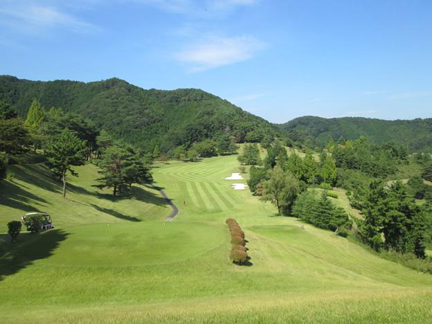 足利城ゴルフ倶楽部9番ロングホール2014.9.23