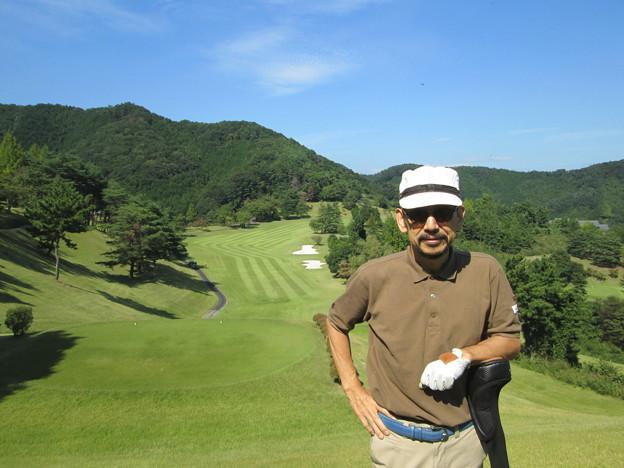 足利城ゴルフ倶楽部9番ロングホールのK氏?2014.9.23