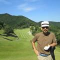 Photos: 足利城ゴルフ倶楽部9番ロングホールのK氏?2014.9.23