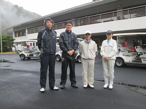 足利城ゴルフ倶楽部視察プレーをした皆さん2015.11.14