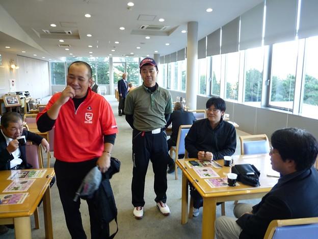 足利カントリークラブ11月Bクラス月例杯競技終了後の隆さん、江さん、和くん、宮くんのアシカンファミリー2015.11.15