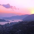 夕日の瀬戸内海遠望