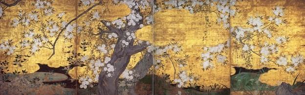 長谷川久蔵筆 桜図(京都・智積院蔵)