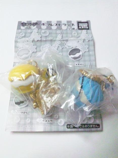 [譲渡]ポケモン ポフレストラップ 【譲】ピカチュウ(黄色)、ケロ...