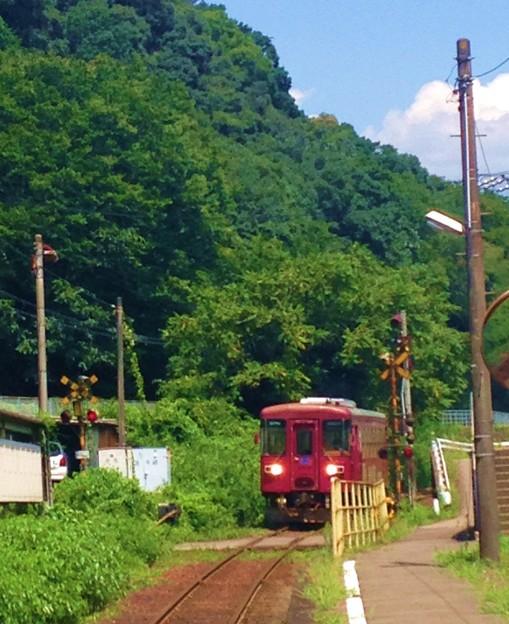写真: ほらぁ 電車がきたー
