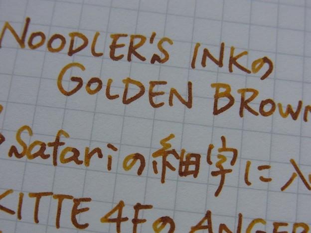 Observation of the color of Noodler's Ink Golden Brown (enlarge)