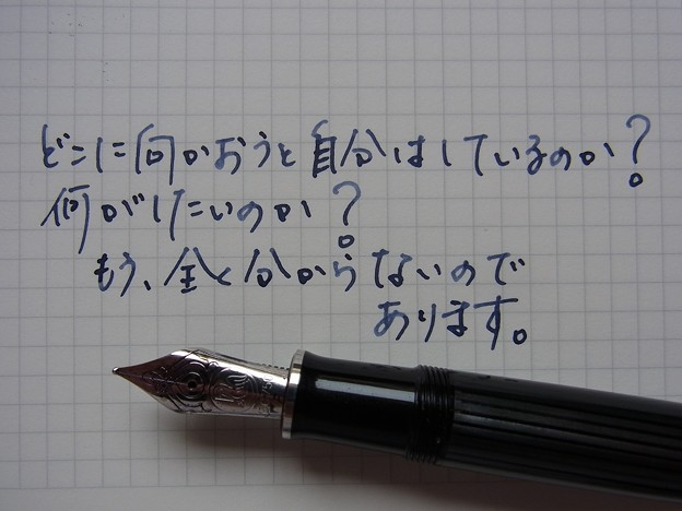 Pelikan M805 with Pelikan Blue Black scribble on GRAPHILO