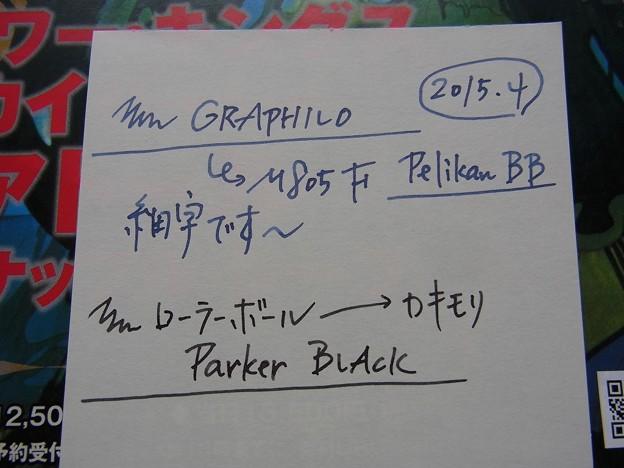 Scribble by M805 and Kakimori's Roller Pen in GRAPHILO