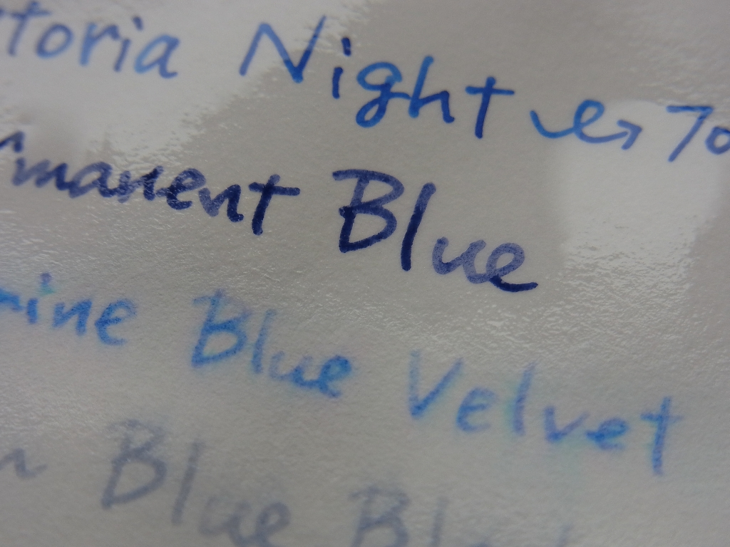 SAILOR Pigment Ink - Storia - Night Water Resistant Examination (zoom #2)