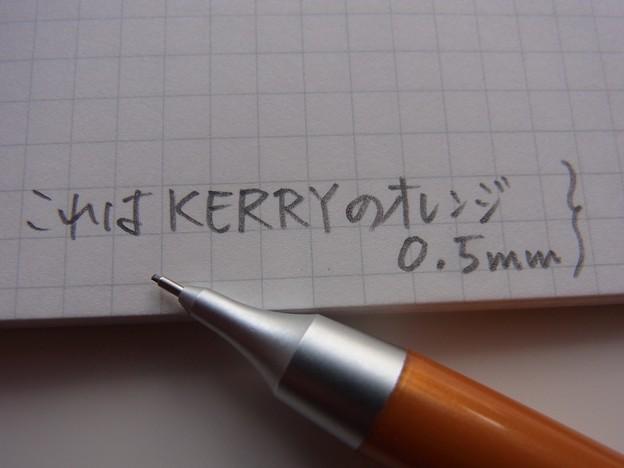 Pentel KERRY Orange Mechanical Pencil handwriting