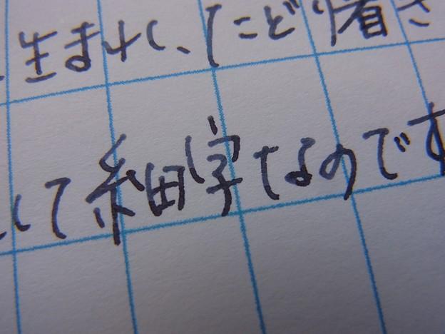 Pelikan Stresemann + Pelikan Tanzanite handwriting on SOUMAYA's Manuscript Paper #1