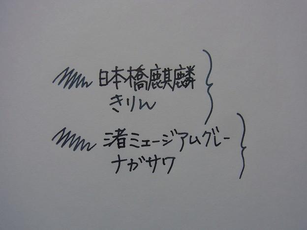 MARUZEN Athena Ink - Nihombashi Kirin comparison NAGASAWA - Nagisa Museum Gray