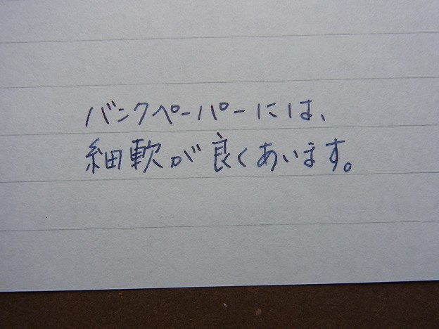 Platinum #3776 shoji (SF) & saku & Bank Paper (Kakimori's Order Note) handwriting 2