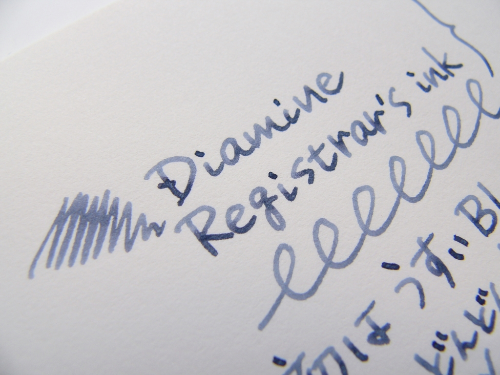 Diamine Registrar's ink Handwriting 1
