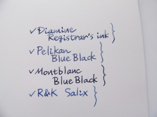 Diamine Registrar's ink Handwriting 3