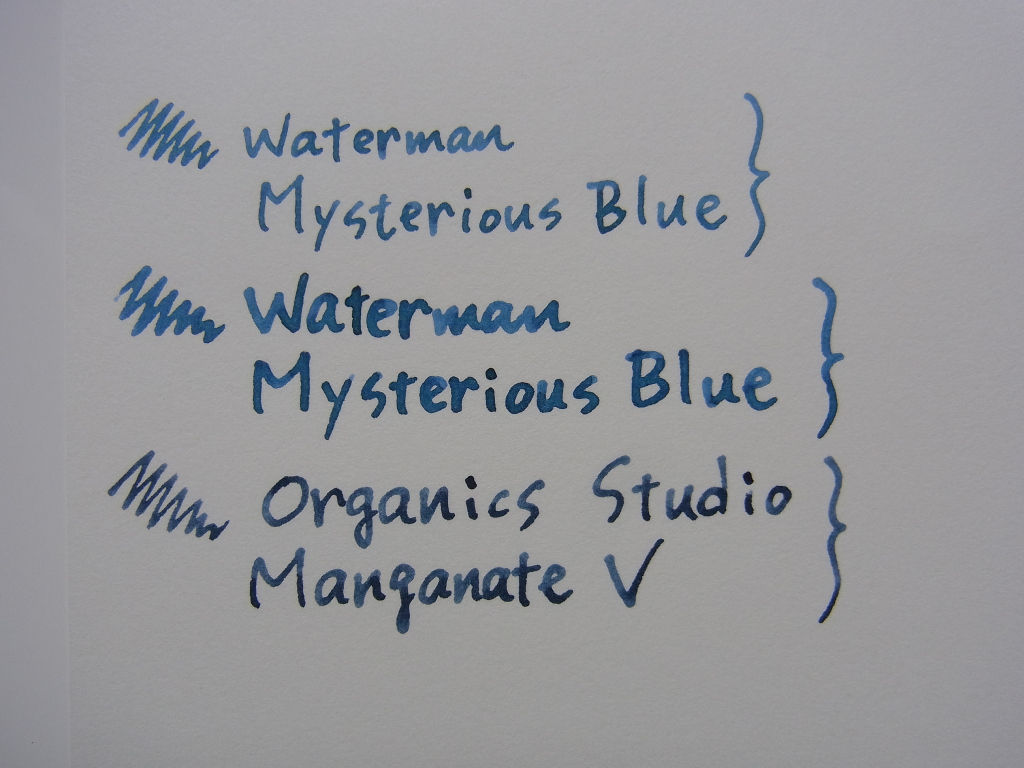 Waterman Mysterious Blue handwriting