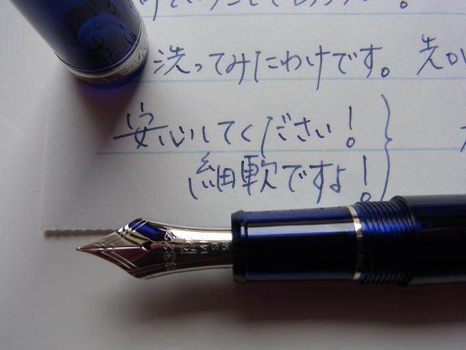 プラチナ #3776 センチュリー シャルトルブルー ロジウム 細軟 + Salix #2