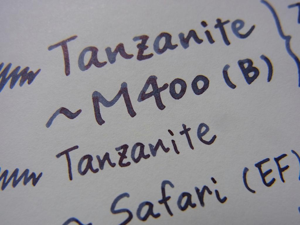 Pelikan Edelstein Tanzanite handwriting (zoom)