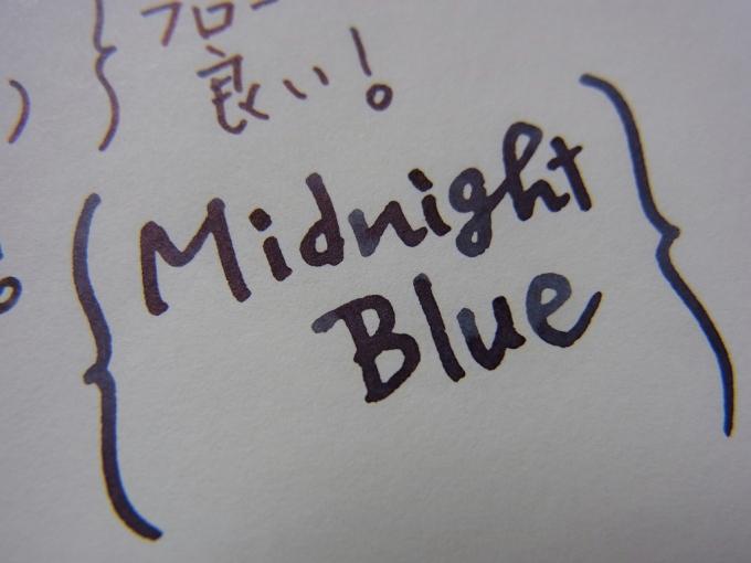 Montblanc Midnight Blue handwriting (zoom)